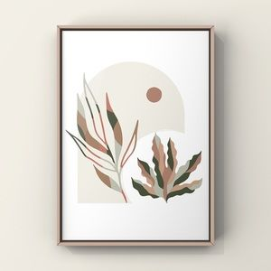 Minimalist modern boho abstract wall art print